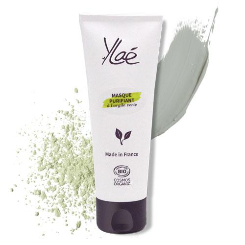 Tube masque purifiant à l'argile verte avec ses ingrédients